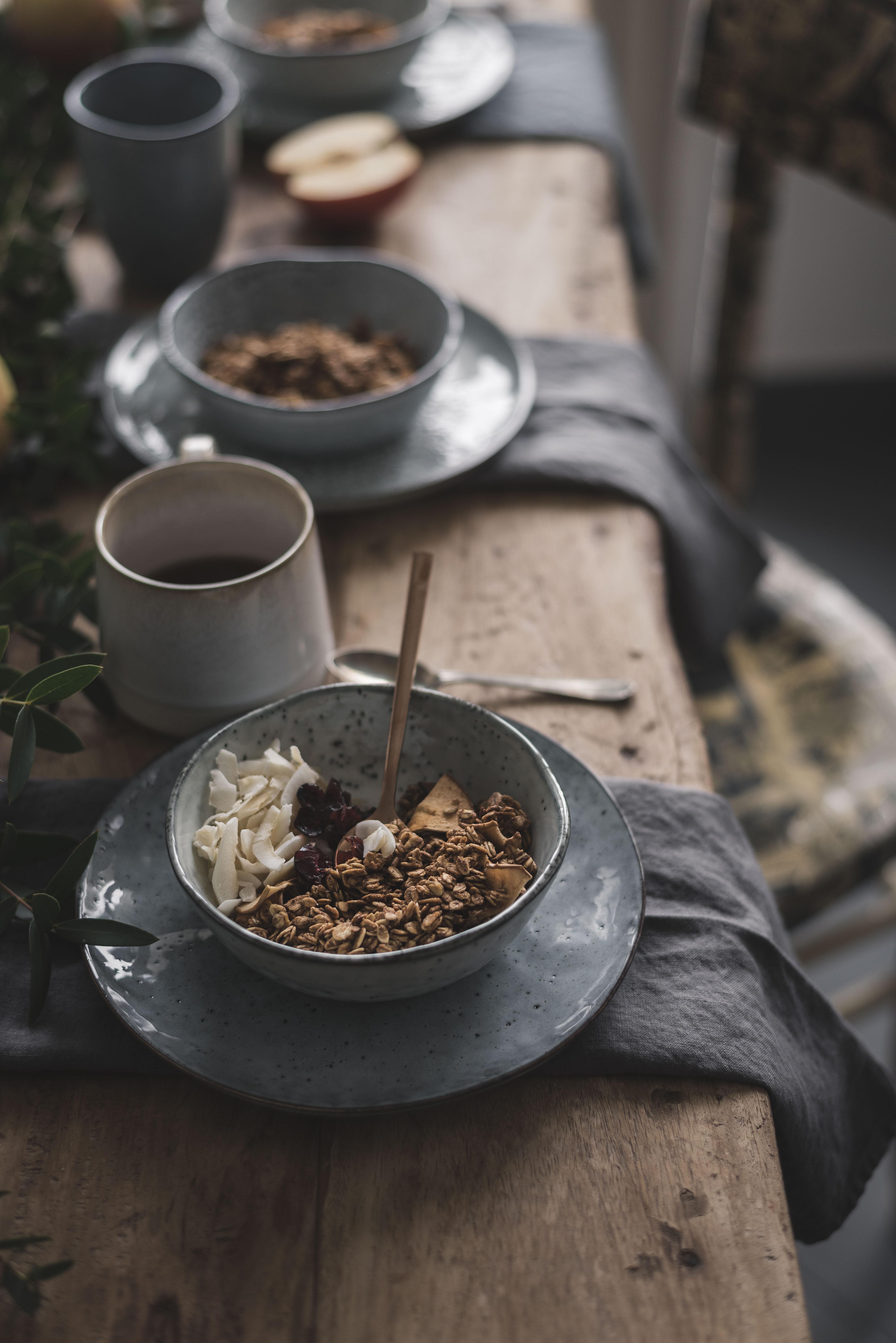 vegan apple granola recipe, no added sugar or fats