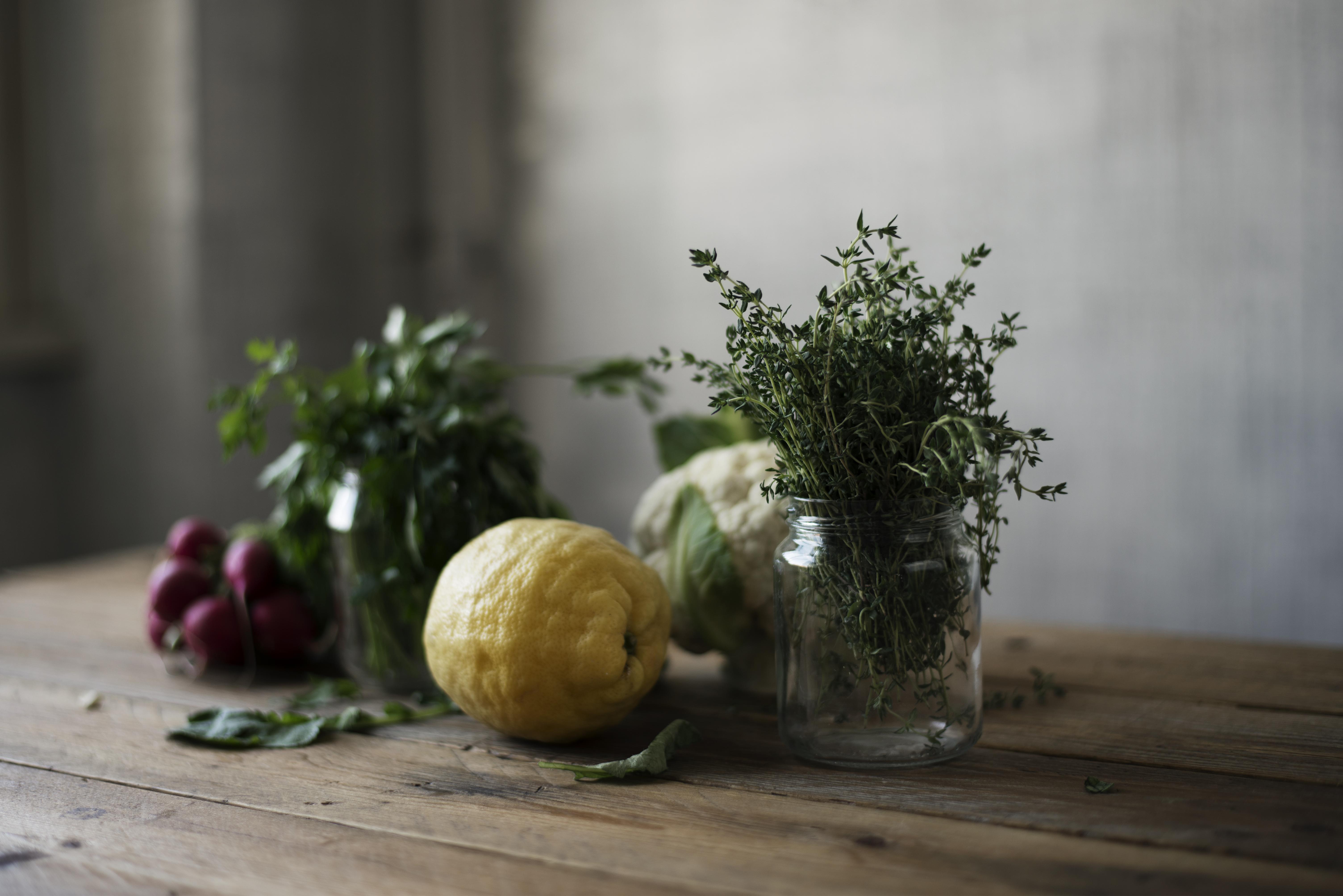 Cauliflower Hummus ingredients