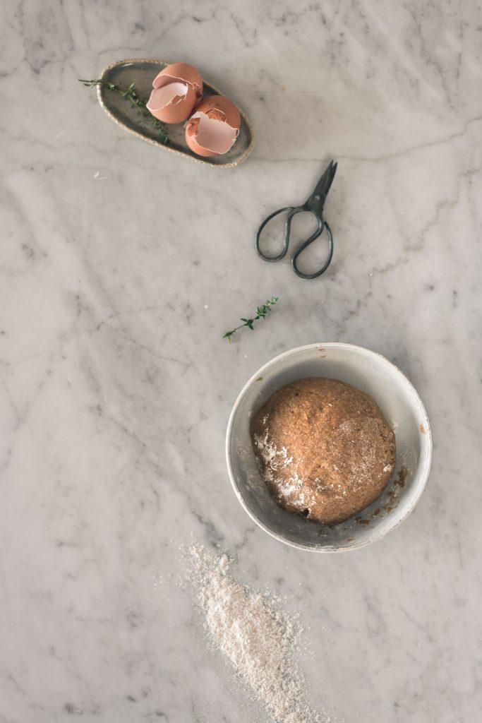 wholegrain shortbread recipe in the making